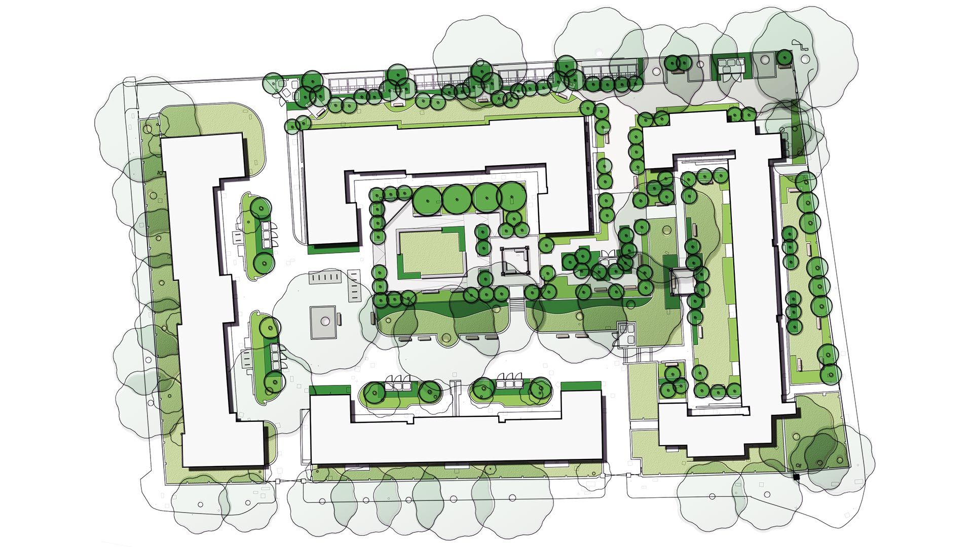 Residential masterplan concept landscape architects for Residential landscape plan