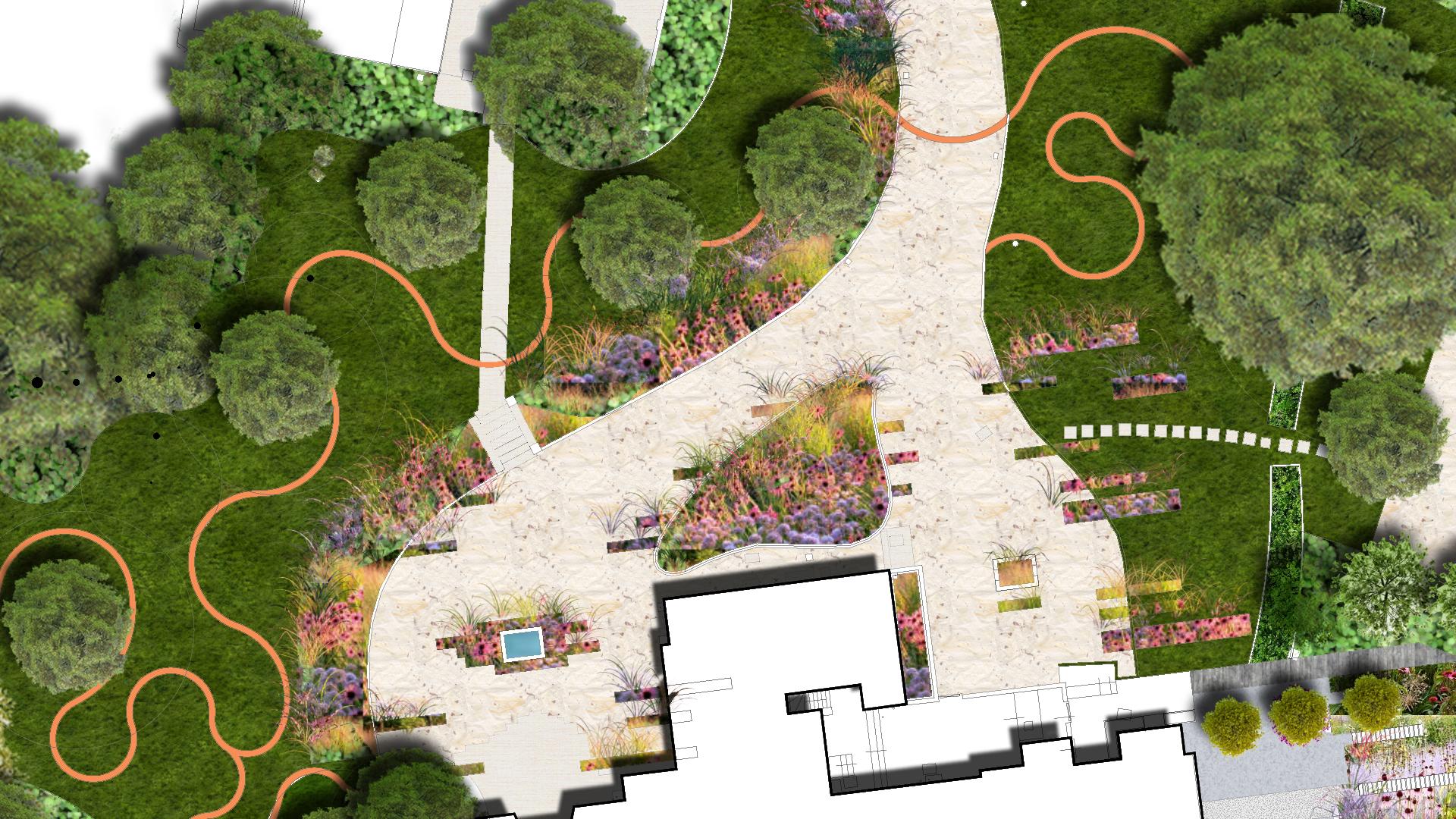 Residential Landscape Masterplan Concept Landscape