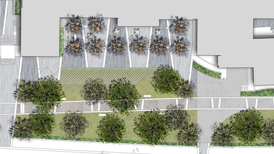school plaza landscape design