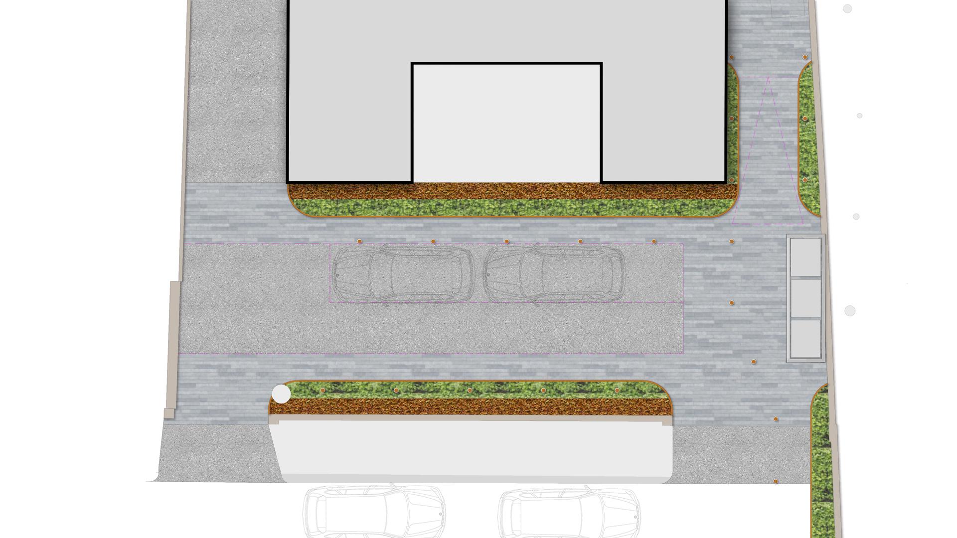 oncept_landscape_desingers_copper_beech_highgate_n6_block_frontage_design